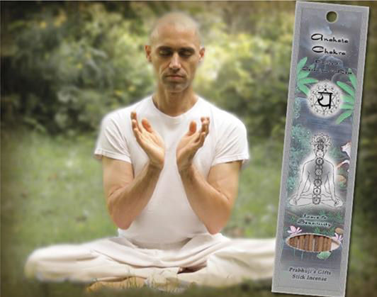 Prabhuji's Anahata Heart Chakra Man with Incense