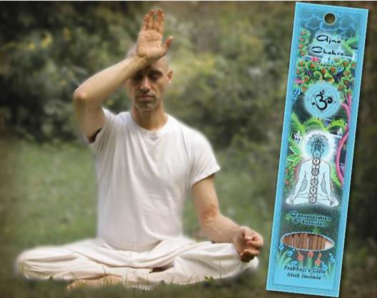 Prabhuji's Ajna Third Eye Chakra Man with Incense