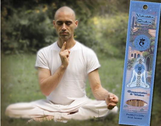 Prabhuji's Vishuddha Throat Chakra Man with Incense