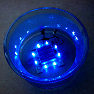 blue LED light base