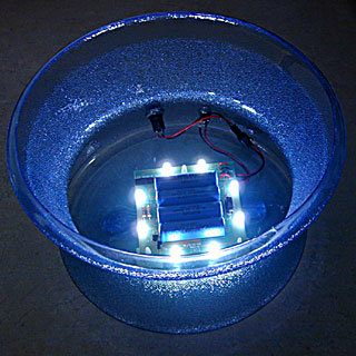 white LED light base