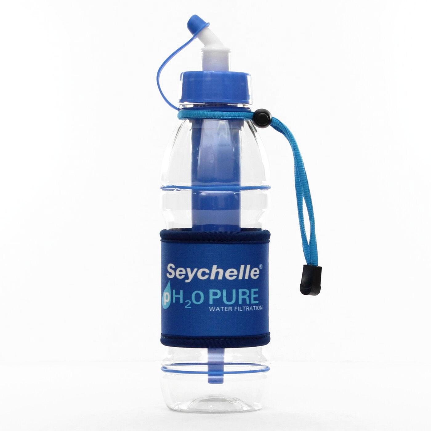 Seychelle ph2o purwater alkaline sports bottle blue for Blue water parts piscine