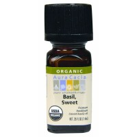 Aura Cacia Organic Sweet Basil Essential Oil 0.25oz.