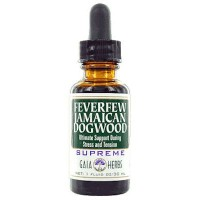 Gaia Herbs Feverfew Jamaican Dogwood Supreme Extract
