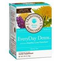 Traditional Medicinals EveryDay Detox Tea 85% Organic 16 Teabags