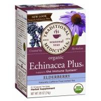 Traditional Medicinals Organic Echinacea Plus Elderberry Tea 16 Teabags