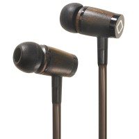 Aircom Audio A6 Hands-Free Headset Cell Phone Airflow Air Tube Wood Stereo Earbuds