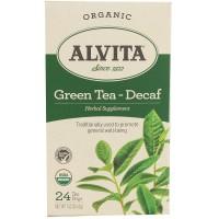 Alvita Teas Organic Chinese Green Tea Decaf 24 Tea Bags
