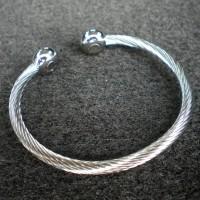 EIP Energy Innovations Tesla Positive Energy Braided Silver Stainless Steel 1-Magnet Bracelet (Large)