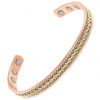 EIP Energy Innovations Positive Energy 3-Magnet Bracelet with Braided Gold & Silver Inlay