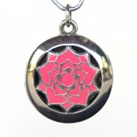 Earth Solutions Aromatherapy Chakra Pendant Chakra 7, Crown - Sterling Silver, Pink
