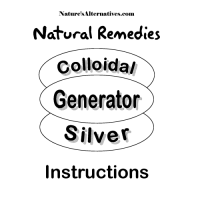 Nature's Alternatives Colloidal Silver Instruction Manual DOWNLOADABLE