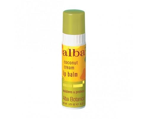 Alba Botanica Hawaiian Coconut Cream Lip Balm .15oz.