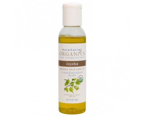 Aura Cacia Organics Skin Care Oil Jojoba 4oz.