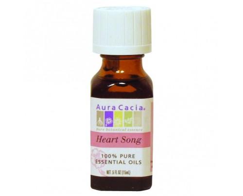 Aura Cacia Aromatherapy Oil Blend Heartsong 0.5oz.