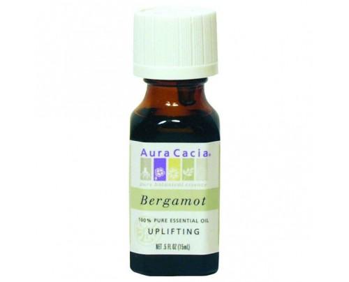 Aura Cacia Essential Oil Bergamot (Citrus bergamia) 0.5oz.