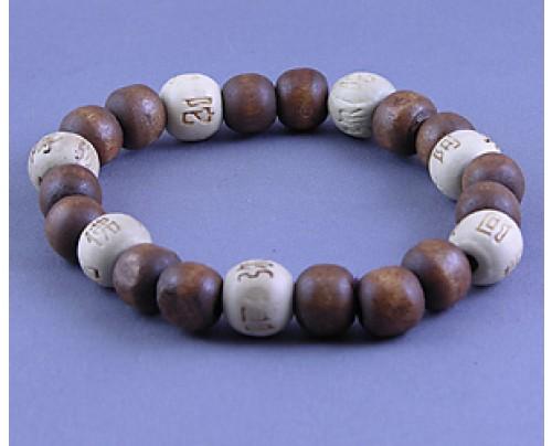 Zorbitz Karmalogy Lucky Karma Beads Bracelet - Brown & White