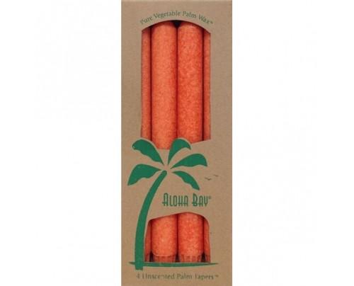 "Aloha Bay Candle 9"" Taper Burnt Orange 4-pack"