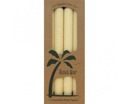 "Aloha Bay Candle 9"" Taper Cream 4-pack"