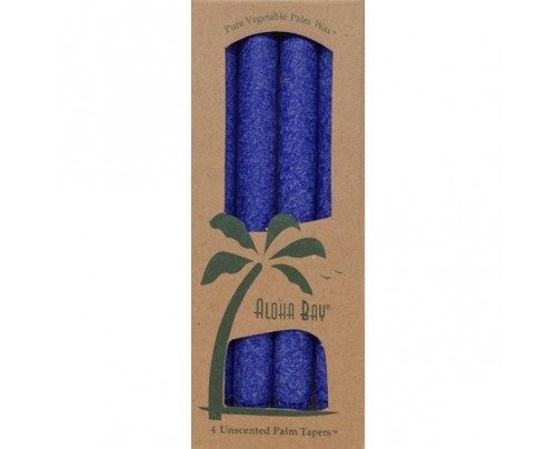 "Aloha Bay Candle 9"" Taper Indigo 4-pack"