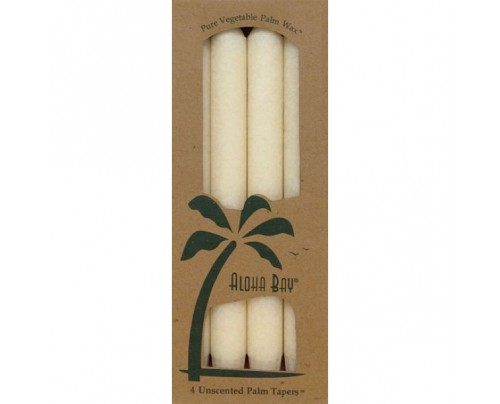 "Aloha Bay Candle 9"" Taper Ivory 4-pack"
