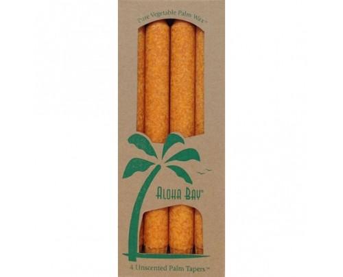 """Aloha Bay Candle 9"""" Taper Orange 4-pack"""