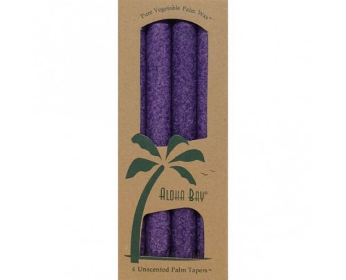 "Aloha Bay Candle 9"" Taper Violet 4-pack"