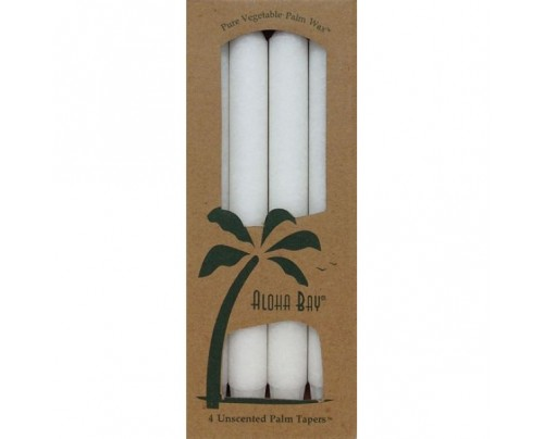 """Aloha Bay Candle 9"""" Taper White 4-pack"""