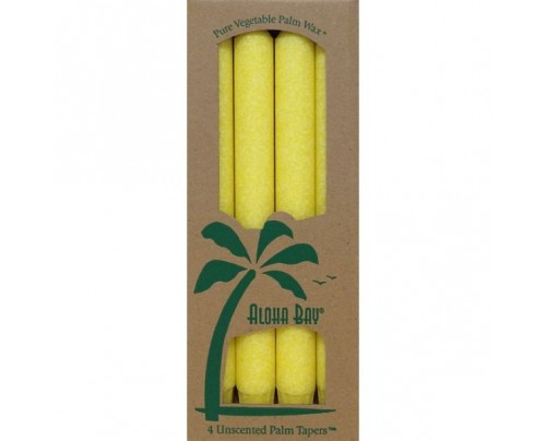 "Aloha Bay Candle 9"" Taper Yellow 4-pack"