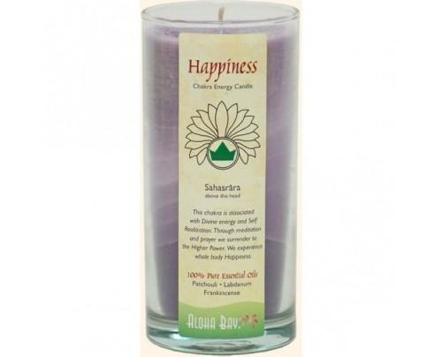 Aloha Bay Candle Chakra Energy Jar Happiness (Sahasrara) Violet 11 oz.