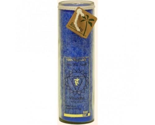 Aloha Bay Candle Chakra Jar Unscented Positive Energy (Visuddha) Blue 16oz.