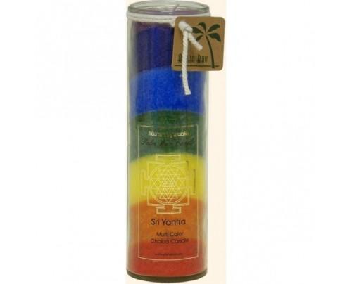 Aloha Bay Candle Chakra Jar Unscented Sri Yantra Rainbow 16 oz.