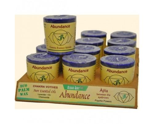 Aloha Bay Candle Chakra Votive Abundance (Ajna) Indigo 12-pack