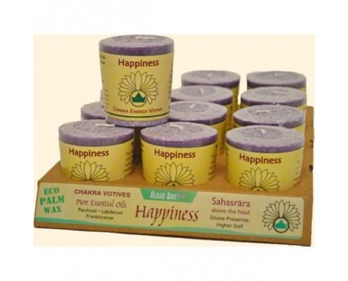 Aloha Bay Candle Chakra Votive Happiness (Sahasrara) Violet 12-pack