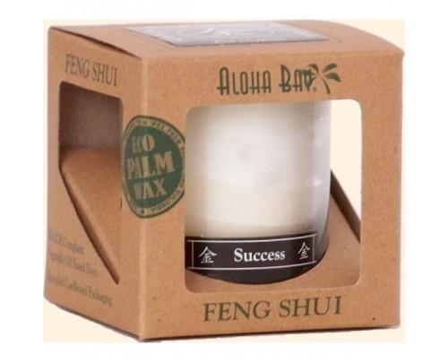 Aloha Bay Candle Feng Shui Gift Box Metal (Success) Ivory 2.5oz.