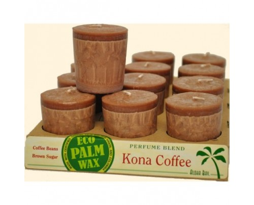 Aloha Bay Candle Votives Kona Coffee Brown 12-pack