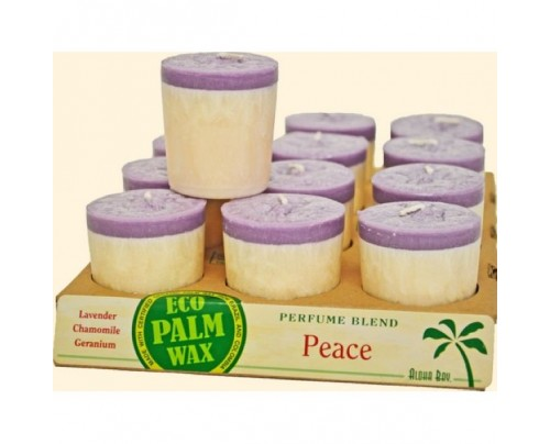 Aloha Bay Candle Votives Peace Lavender Ivory 12-pack