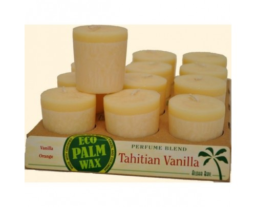 Aloha Bay Candle Votives Tahitian Vanilla Ivory 12-pack