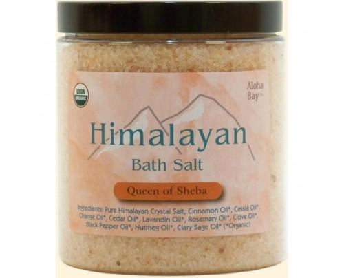 Aloha Bay Himalayan Bath Salt Organic Queen of Sheba 24oz.