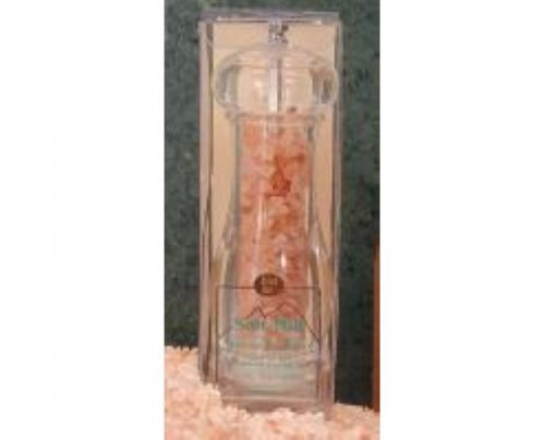 """Aloha Bay Himalayan Crystal Salt Mill Round with Ceramic Grinder 7"""""""