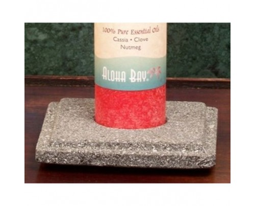 Aloha Bay Natural Lava Stone Pillar Holders 6-pack