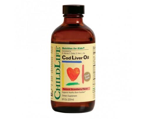ChildLife Cod Liver Oil Strawberry 8 fl. oz.