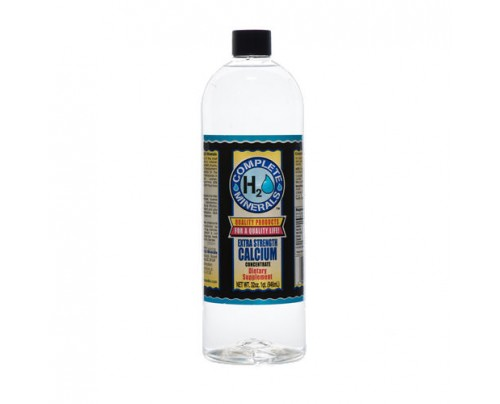 Complete H2O Minerals Calcium Ionic Mineral Water Extra Stength 4x Concentrate 6,800 ppm 32 fl. oz.