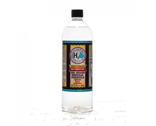 Complete H2O Minerals Dr. Wood's Formula for Humans Ionic Mineral Water 32 fl. oz.