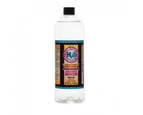 Complete H2O Minerals Magnesium Ionic Mineral Water Extra Strength 4x Concentrate 4,800 ppm 32 fl. oz.