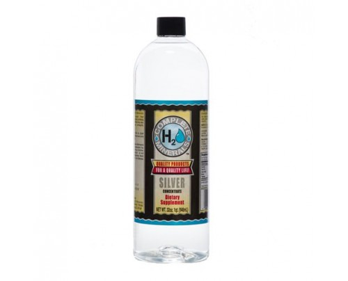 Complete H2O Minerals Silver Ionic Mineral Water 100 ppm 32 fl. oz.