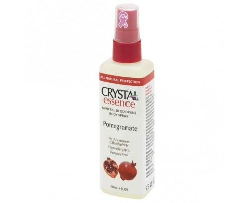 Crystal Mineral Deodorant Body Spray Pomegranate 4oz.