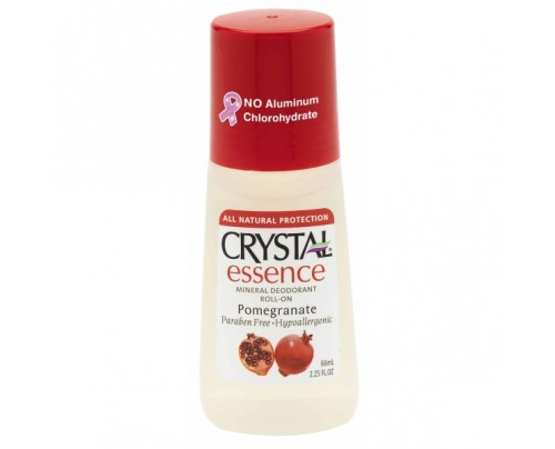 Crystal Mineral Deodorant Roll-On Pomegranate 2.25oz.