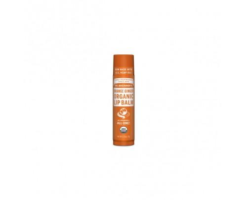 Dr. Bronner's All-One Organic Lip Balm Orange Ginger 0.15 oz.
