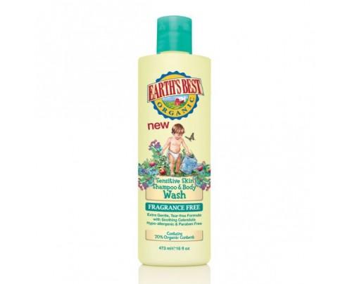 Jason Sensitive Skin Shampoo & Body Wash Fragrance Free 16oz.